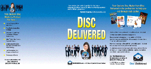 Self Mailer and Disc Label Templates - Disc Delivered | Disc Delivered